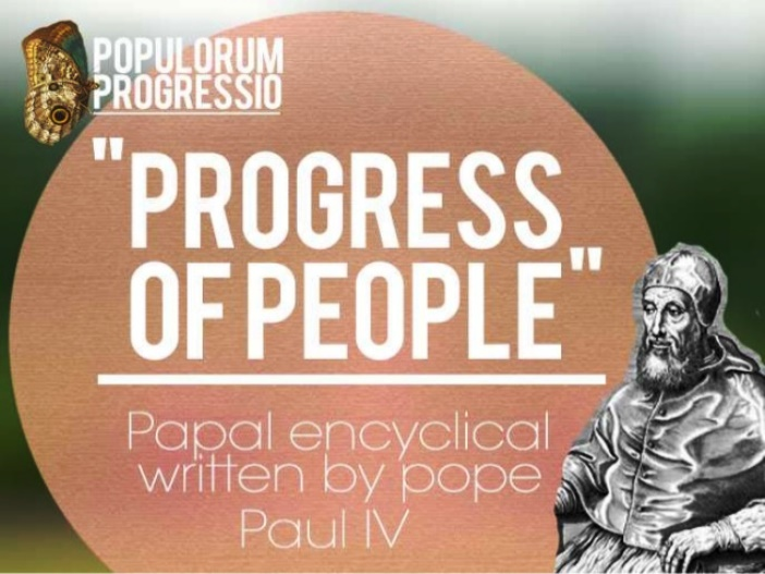 Populorum Progressio: 50 years on