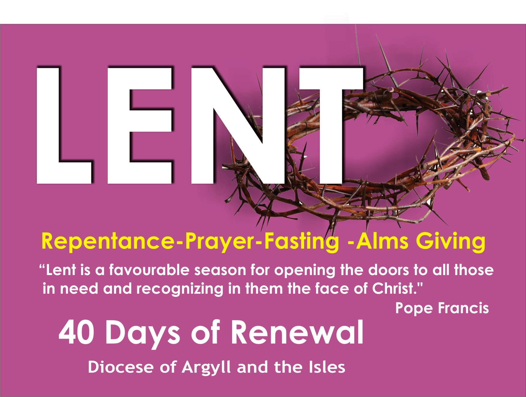 Happy Lent!Message from Bishop Brian