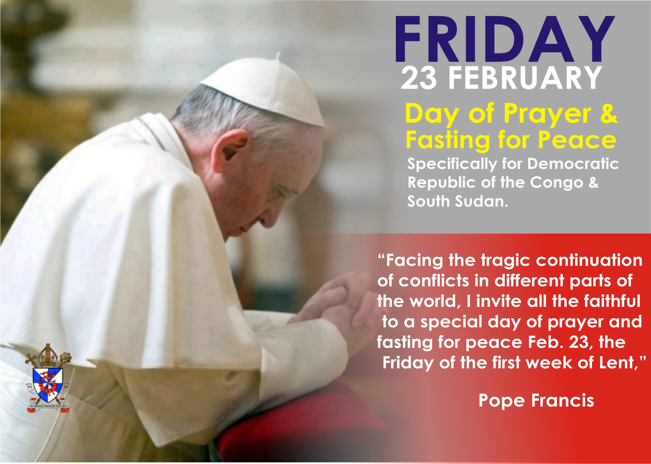 A day of prayer and fasting for peace