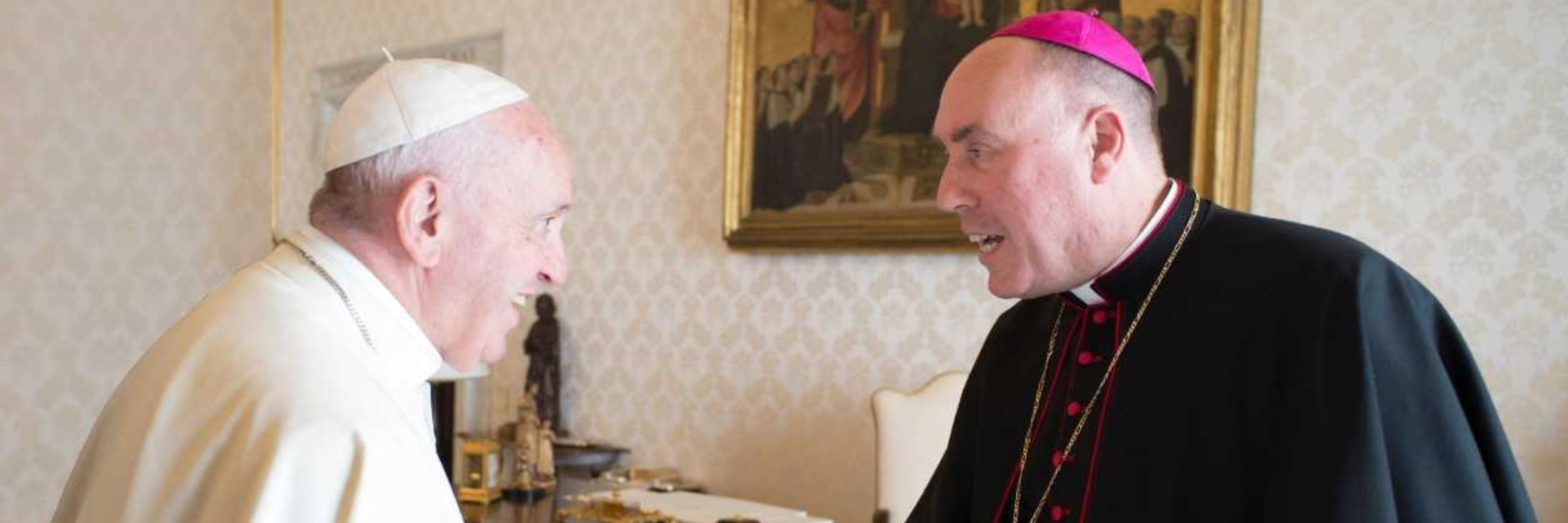 Bishop Brian meets Pope Francis