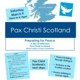 Pax Christi Scotland event.
