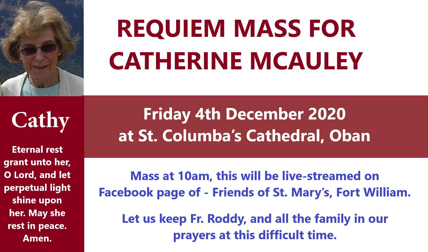 Requiem Mass for Cathy McAuley RIP