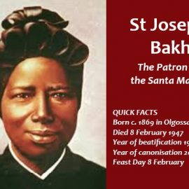 St Josephine Bakhita, the Patron Saint of the Santa Marta Group